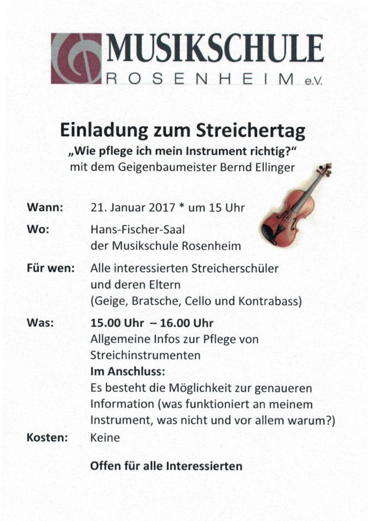 Streichertag 2017 Musikschule Rosenheim